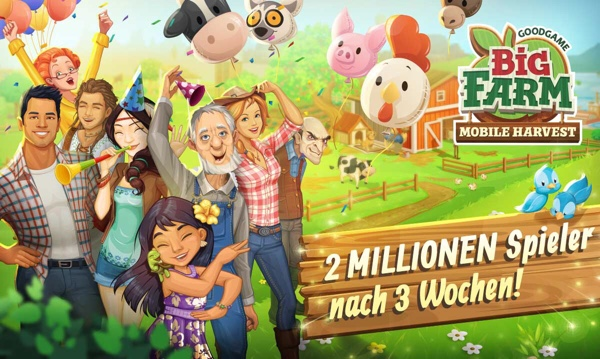 Goodgame Big Farm: Mobile Harvest, 2 Millionen Spieler
